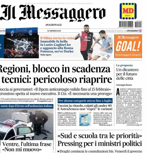"""""""Un dicastero per il futuro delle città"""" editoriale di Giuseppe Roma su Messaggero di lunedi 8 febbraio"""